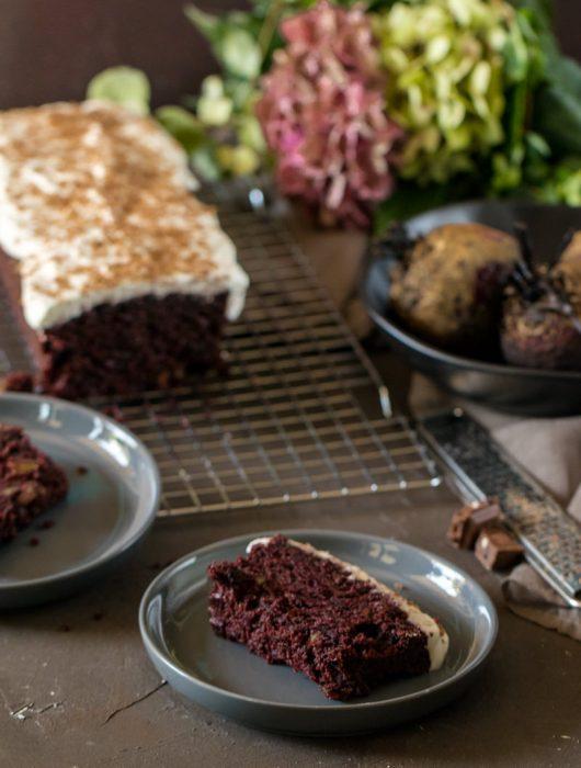 Schokokuchen mit Rote Bete Rezept mit Kastenform von ÜberSee-Mädchen Foodblog vom Bodensee Überlingen