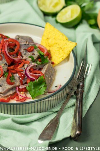 Ceviche mit Thunfisch Deutsche See und Salsa Criolla Plätzchen Rezept von ÜberSee-Mädchen Foodblog vom Bodensee Überlingen