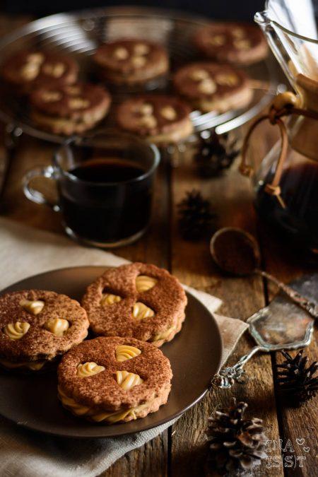 Pfauenaugen mit Kaffeecreme als Plätzchen von Inaisst