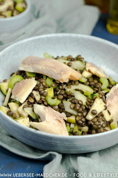 Linsensalat mit Forelle Staudensellerie Rezept von ÜberSee-Mädchen Foodblog vom Bodensee Überlingen