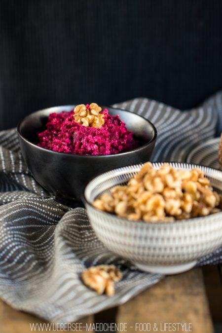 Rote-Bete-Aufstrich mit Feta Schafskäse Walnüsse Rezept von ÜberSee-Mädchen Foodblog vom Bodensee Überlingen