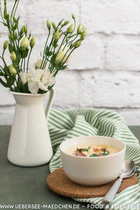 Spargelcremesuppe mit Spargelschalen Fond Sahne Mehlschwitze Rezept von ÜberSee-Mädchen der Foodblog vom Bodensee Konstanz