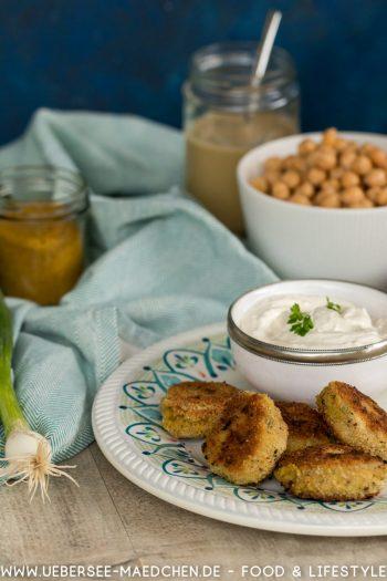 Falafel ohne Frittieren mit Joghurtdip selbstgemacht Rezept von ÜberSee-Mädchen der Foodblog vom Bodensee