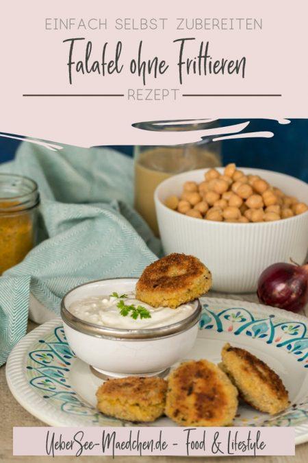 Falafel ohne Frittieren selbstgemacht mit Joghurtdip Rezept von ÜberSee-Mädchen der Foodblog vom Bodensee