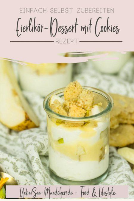 Sahnequark-Dessert mit Eierlikör Birnen Cookies Rezept von ÜberSee-Mädchen Foodblog