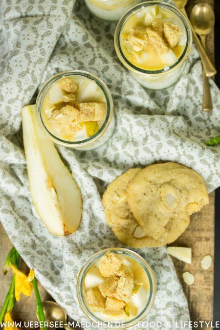 Dessertgläser mit Cookies Birnen Rezept von ÜberSee-Mädchen Foodblog