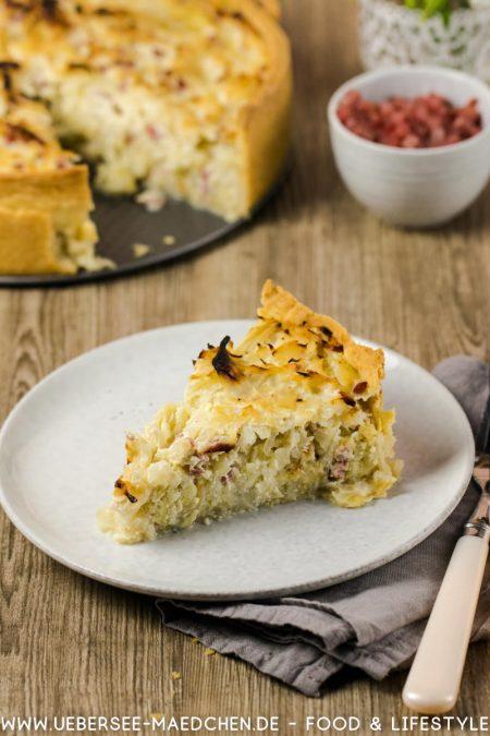 Ein Stück Krautkuchen Quiche Rezept von ÜberSee-Mädchen der Foodblog vom Bodensee Konstanz