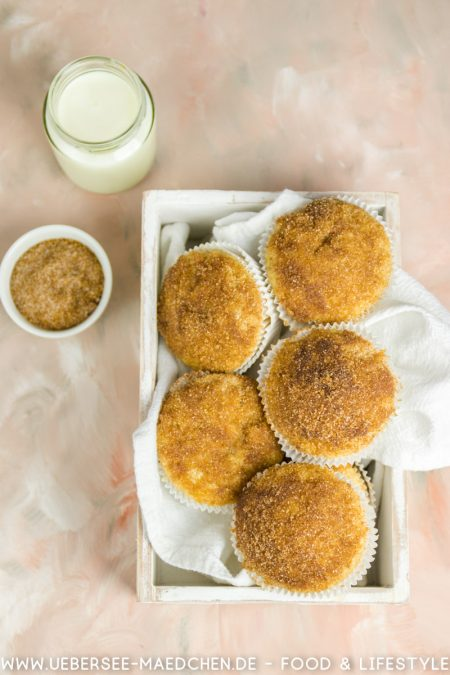 Buttermilch-Muffins mit Apfelsaft und Zucker-Zimt-Knusper von ÜberSee-Mädchen Foodblog Bodensee Konstanz