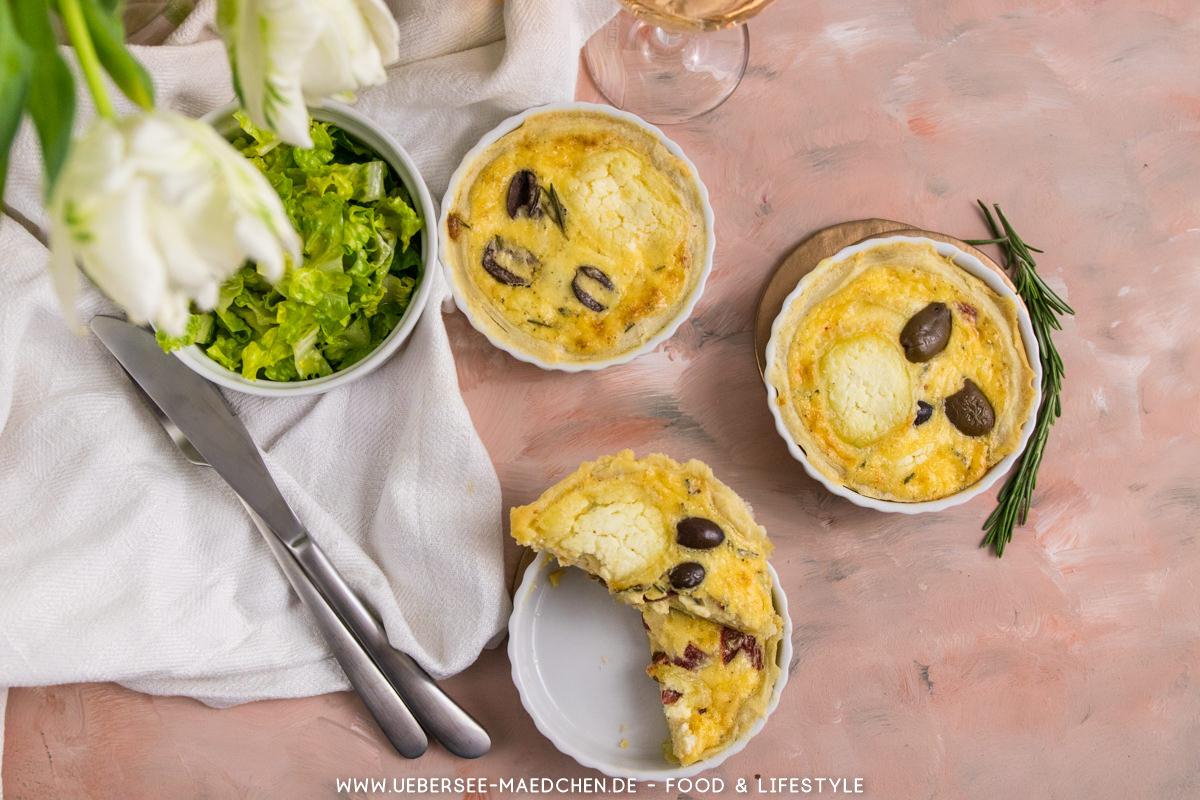 Drei Tartelettes mit Ziegenkäse mit Salat Rezept von ÜberSee-Mädchen Foodblog vom Bodensee