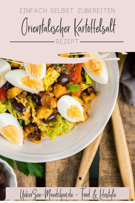 Orientalischer Kartoffelsalat mit Oliven Röstpaprika Harissa-Dressing Eiern Rezept nach Ottolenghi von ÜberSee-Mädchen Foodblog vom Bodensee