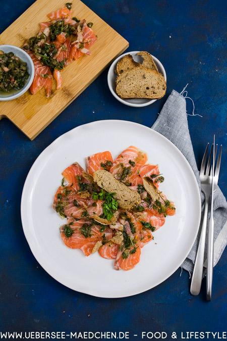 Gebeizter Lachs wie in der Brasserie Colette von Tim Raue Rezept von ÜberSee-Mädchen der Foodblog vom Bodensee
