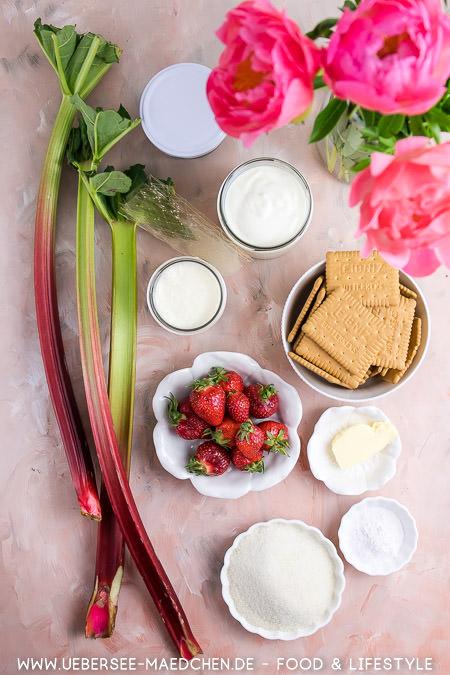 Alle Zutaten für Joghurt-Torte ohne Backen mit Gelatine Rezept von ÜberSee-Mädchen Foodblog vom Bodensee