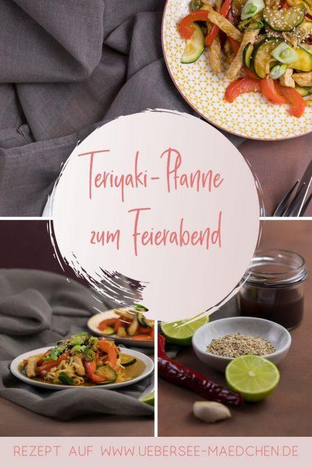 Teriyaki-Pfanne mit Gemüse und Schwein Feierabendküche schnelles Rezept von ÜberSee-Mädchen Foodblog vom Bodensee
