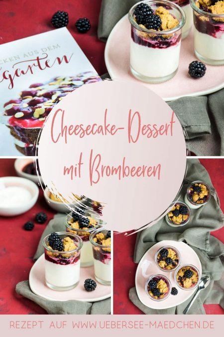 Cheesecake-Creme mit Brombeerkompott und Streuseln Rezept von ÜberSee-Mädchen Foodblog vom Bodensee