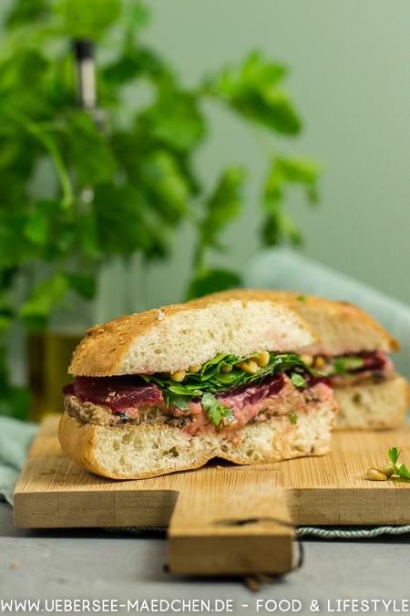 Fladenbrot-Sandwich mit Hummus rote Bete Rezept nach Jamie Oliver von ÜberSee-Mädchen Foodblog vom Bodensee