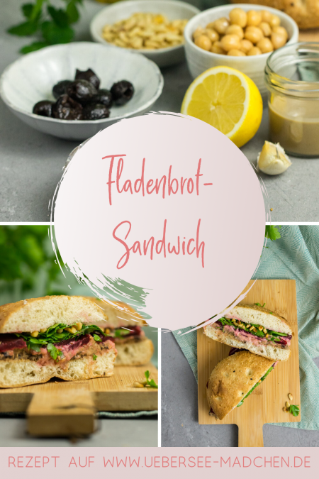 Fladenbrot-Sandwich mit Hummus rote Bete Rezept von ÜberSee-Mädchen Foodblog vom Bodensee