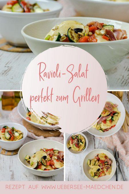 Mediterraner Ravioli-Salat perfekt zum Grillen oder Feierabend weil schnell gemacht lecker Rezept von ÜberSee-Mädchen Foodblog vom Bodensee
