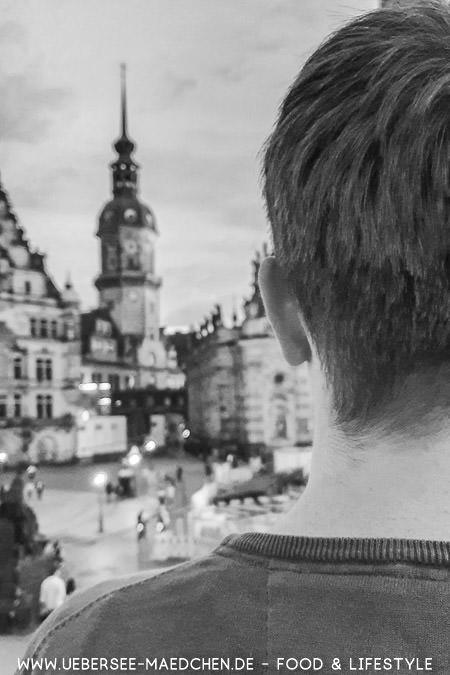 Blick aufs Schloss Dresden
