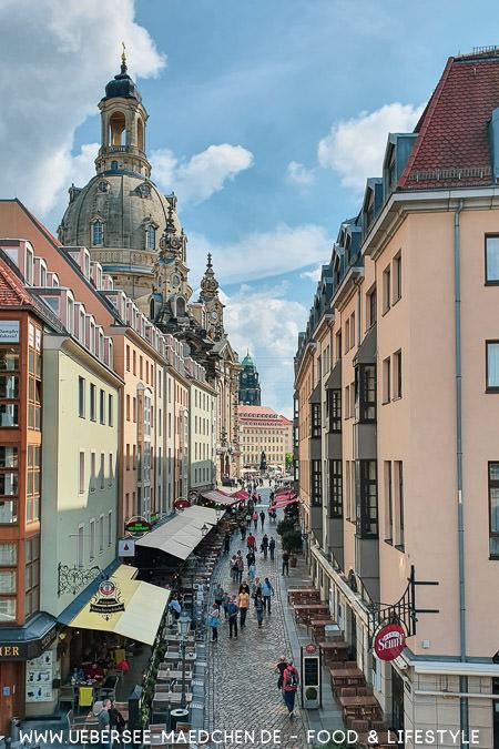 Blick vom Brühlschen Garten auf die Frauenkirche in Dresden Guide von ÜberSee-Mädchen
