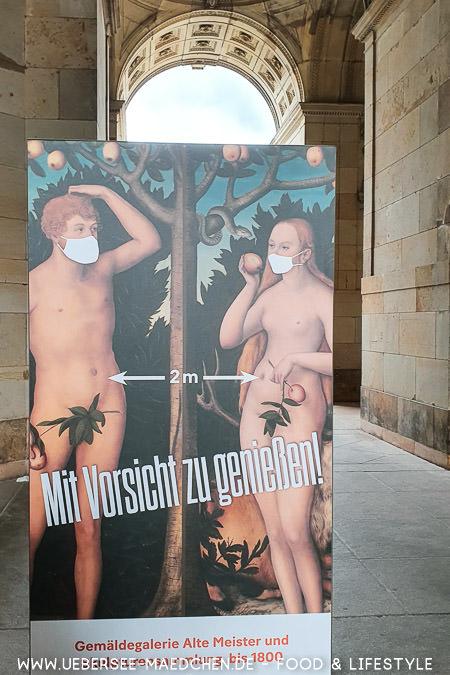 Die Gemäldegalerie alter Meister setzt während Corona auf Mundschutz