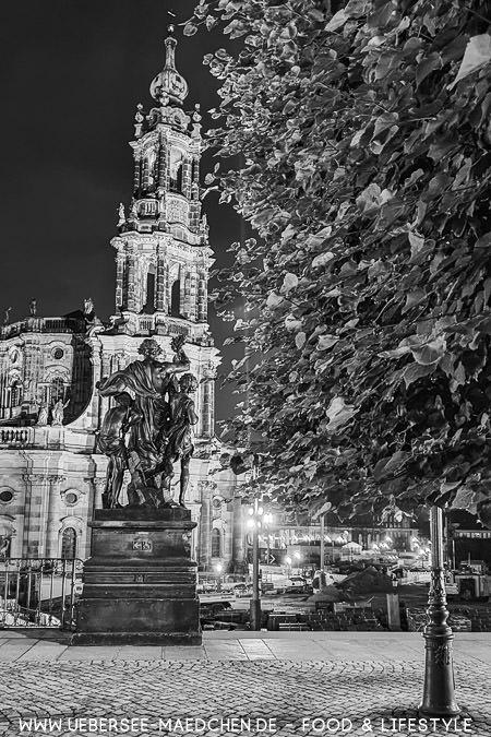 Blick vom Brühlschen Garten gen Hofkirche in Dresden