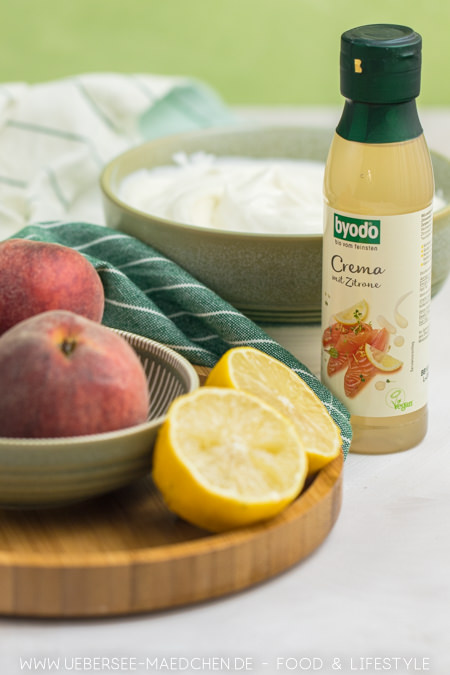 Zutaten für Zitronencreme mit Pfirsich Rezept von ÜberSee-Mädchen Foodblog vom Bodensee Konstanz