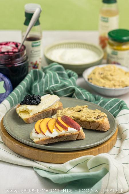 Frühstücksbrot mal anders mit lecker vegetarischem Bio-Auftrich
