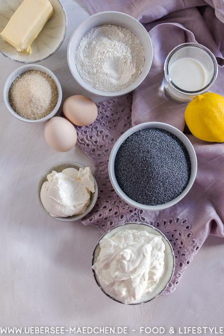 Zutaten für Mohn-Käsekuchen Rezept von ÜberSee-Mädchen Foodblog vom Bodensee Konstanz