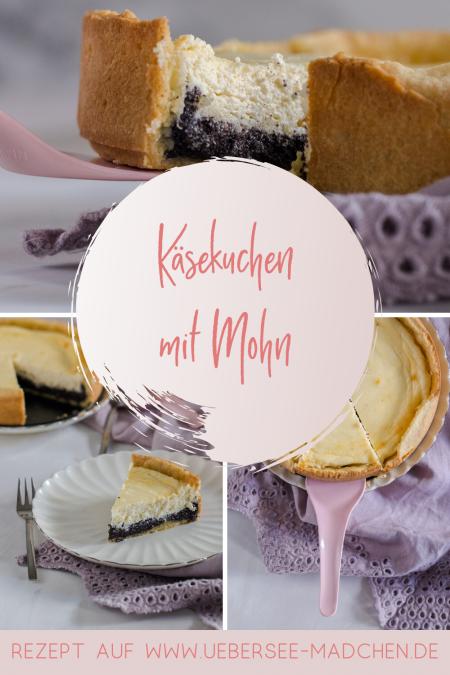 Mohn-Käsekuchen wie im Café mit Mürbeteig Mohnmasse Quark-Schmand-Creme Rezept von ÜberSee-Mädchen Foodblog vom Bodensee