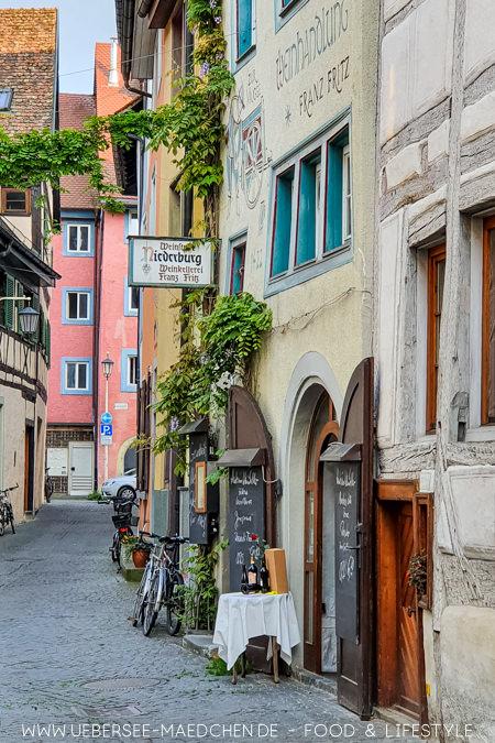 Die Konstanzer Niederburg besticht mit schönen schmalen Gassen