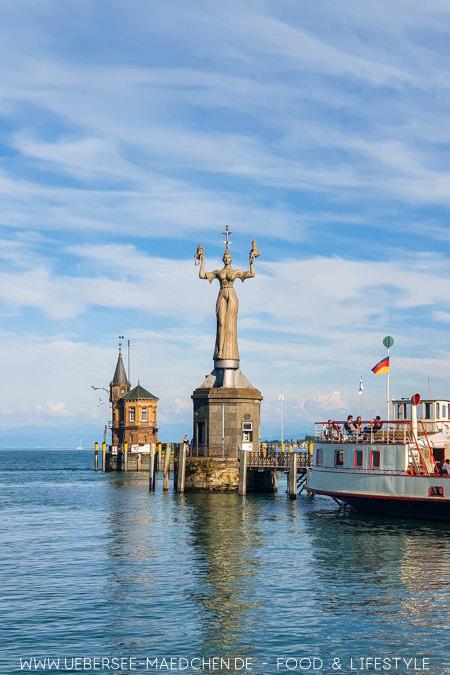 Der Konstanzer Hafen mit Imperia