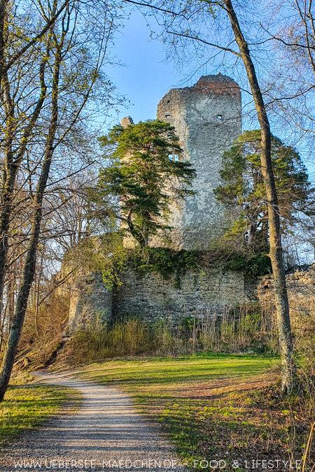 Die Ruine Hohenbodman ist eine Sehenswürdigkeit bei Konstanz Tipps von ÜberSee-Mädchen