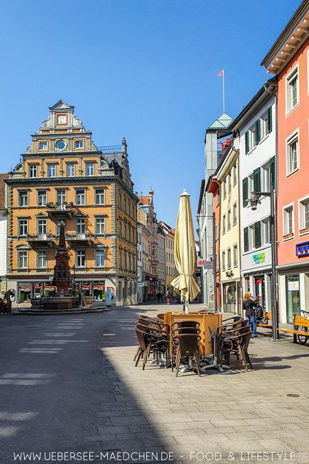Die Marktstätte ist zentraler Ausgangspunkt in Konstanz