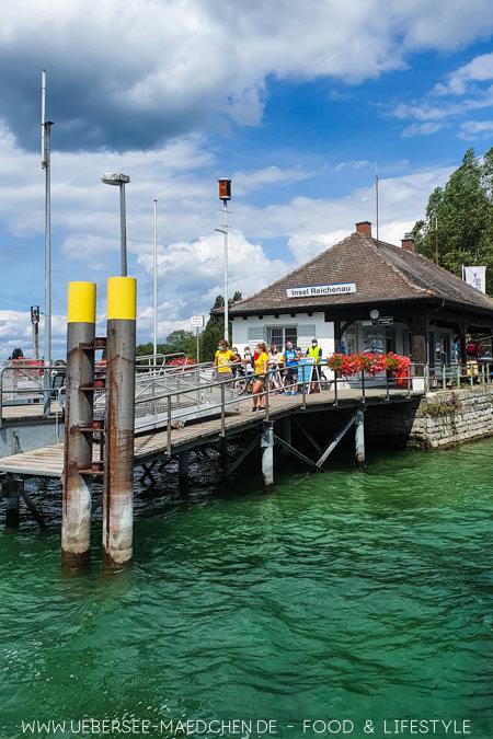 Der Schiffsanleger auf der Insel Reichenau