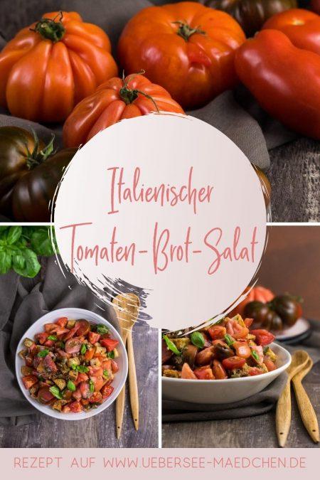 Rezept für Tomaten-Brot-Salat italienische Panzanella mit würzigem Kapern-Dressing von ÜberSee-Mädchen Foodblog vom Bodensee