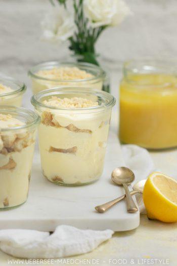 Tiramisu mit Lemoncurd ist ein italienischer Dessert-Klassiker in zitroniger Form Rezept von ÜberSee-Mädchen Foodblog vom Bodensee Konstanz