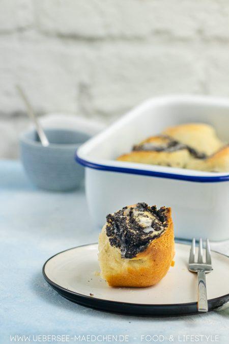 Mohnschnecken als Kuchen mit Quark-Öl-Teig sind einfach selbst gebacken Rezept von ÜberSee-Mädchen Foodblog vom Bodensee Konstanz