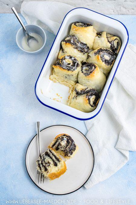 Eine Auflaufform mit Mohnschnecken aus Quark-Öl-Teig Rezept von ÜberSee-Mädchen Foodblog vom Bodensee