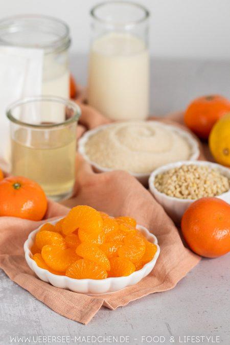 Zutaten für Mandarinencreme Nachtisch