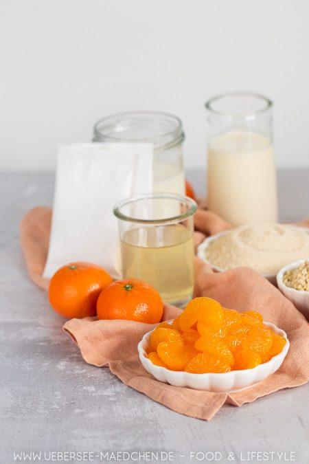 Zutaten für Mandarinencreme Dosenmandarinen Joghurt Mandeln