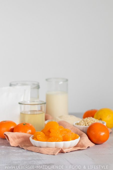 Zutaten für Mandarinencreme-Nachtisch