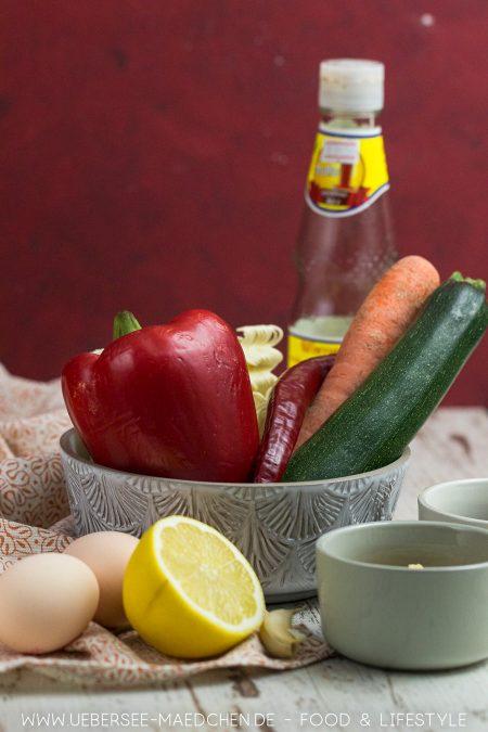 Zutaten für Asia-Nudeln in Teriyaki-Sauce Rezept
