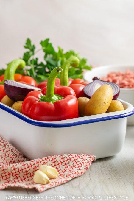 Zutaten für gefüllte Paprika Rezept von ÜberSee-Mädchen Foodblog vom Bodensee