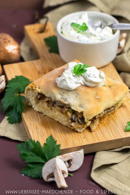 Rezept für Dresdner Handbrot mit Pilzen wie vom Weihnachtsmarkt von ÜberSee-Mädchen Foodblog vom Bodensee