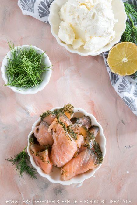 Zutaten für Lachs-Aufstrich Rezept fürs Frühstück