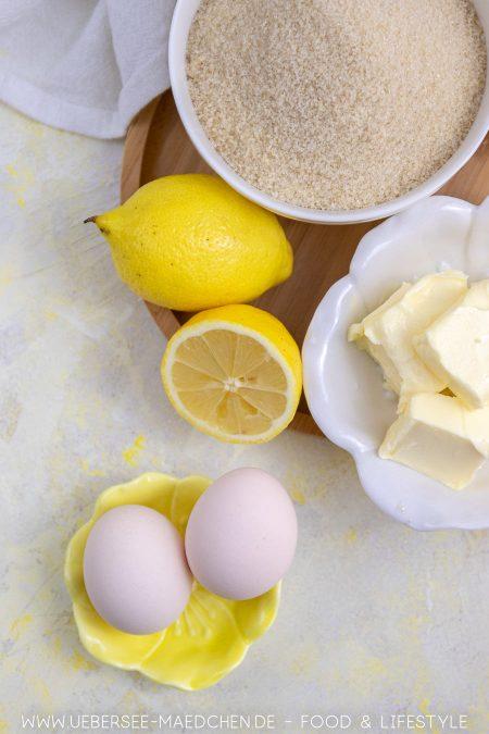 Zutaten für Lemoncurd Zitronencreme