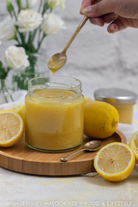 Rezept für Lemoncurd zum Frühstück Kuchen oder Dessert selbstgemacht