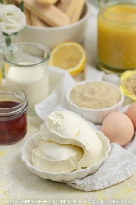 Zutaten für erfrischendes Zitronen-Tiramisu mit Lemoncurd Rezept