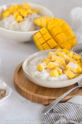 Sticky Rice mit Kokos Mango Rezept aus Thailand von ÜberSee-Mädchen Foodblog vom Bodensee