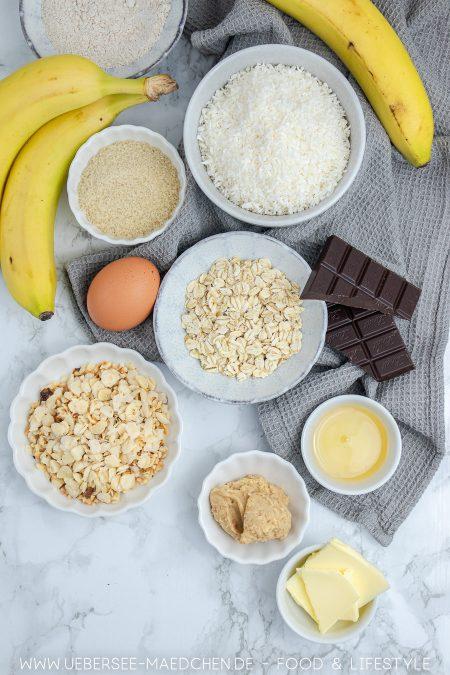 Alle Zutaten für Bananenbrot mit Erdnussbutter Rezept